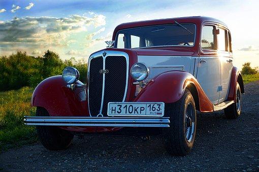 Retro, Car, Machine, Rare Car, Transport, Old Car