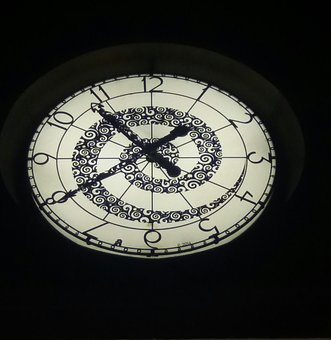 Clock, Pointer, Clock Face, Time Of, Black, Large