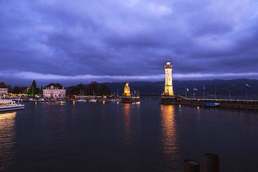 Lindau, Lake Constance, Harbour Entrance, Port