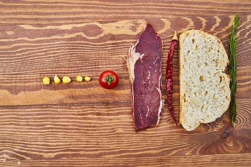 Meat, Bacon, Bread, Food, Healthy Food, Restaurant