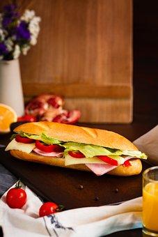 Sandwich, Sandwich With Sausage, Breakfast, Snack, Food