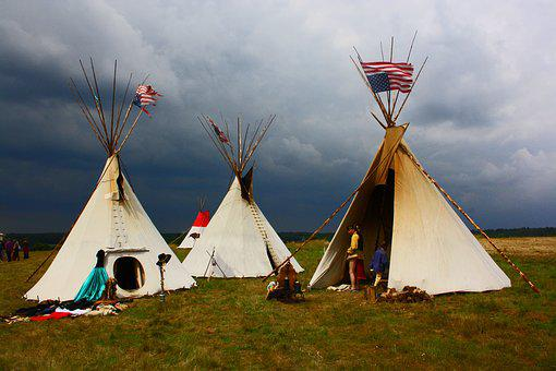 Indians, Tents, Summer, Camping, Wilderness, Camp