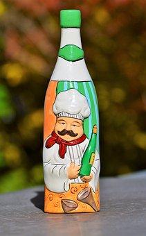 Bottle, Vinegar Bottle, Wine Bottle, Deco, Decoration