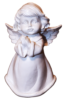 Figure, Angel, Cherub, Ceramic, Female, Patina, Deco