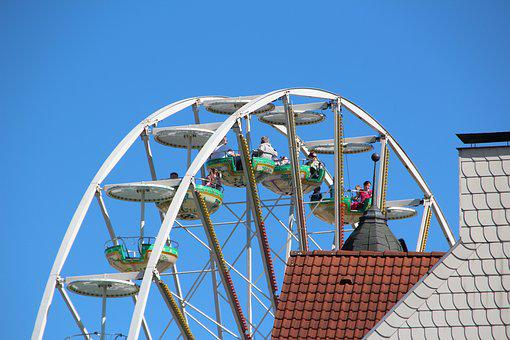 Ferris Wheel, Wheel, City, Authority, Dortmund, Summer