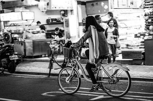 Bike, Girl, Taiwan, Bicycle, Female, Cyclist, Ride