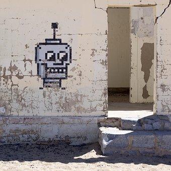 Day, Graffiti, Skull And Crossbones, Wall, Hauswand