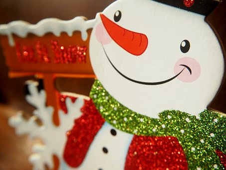 Snow Man, Decoration, Winter, Glitter, Figure, Deco