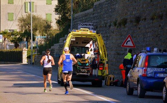 Ambulance, Marathon, Rescue, Emergency, 118, Police