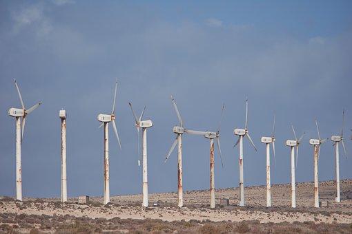 Pinwheel, Wind Power, Wind Energy, Desert, Energy, Old