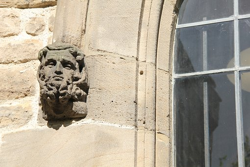 Stone, Face, Window, Church, Architecture, Old, Wall