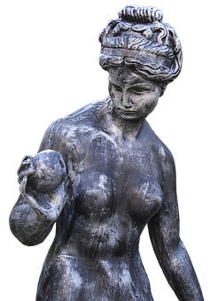 Figure, Bust, Garden Figurines, Sculpture, Female, Eva
