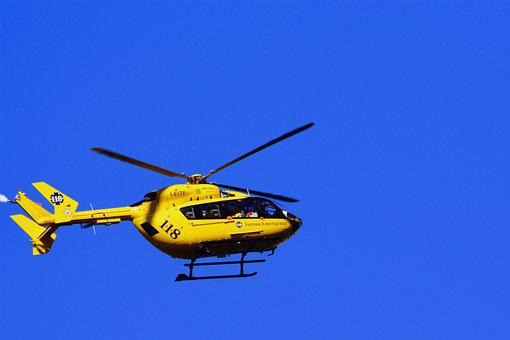 Helicopter, Rescue, 118, Sky, Fly, Emergency