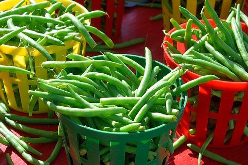 String Beans, For Sale, Market, Vendor, Food, Fresh
