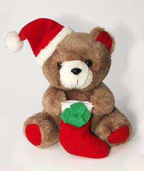 Furry Teddy Bear, Nicholas, Bear, Gift, Cute, Joy