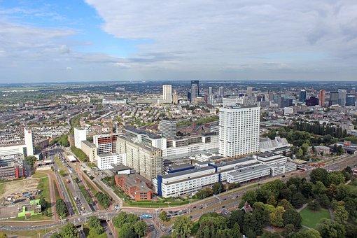 Rotterdam, Airphoto, Air, Erasmus, Mission, Hospital