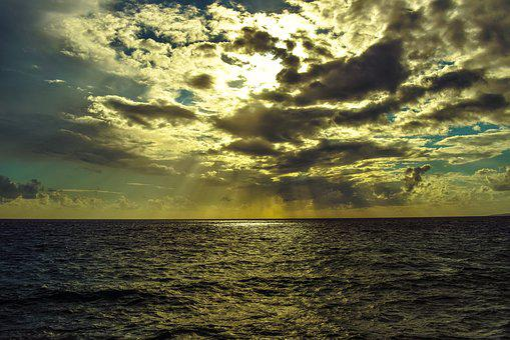 Sky, Clouds, Sea, Afternoon, Horizon, Autumn, Nature