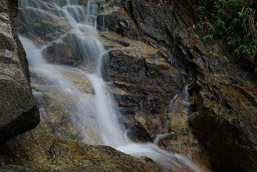 Waterfall, Nature, Long Exposure, Landscape