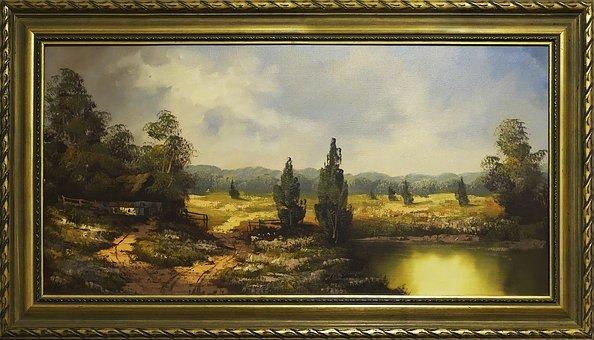 Painting, Frame, Landscape, Painted, Art, Picture Frame