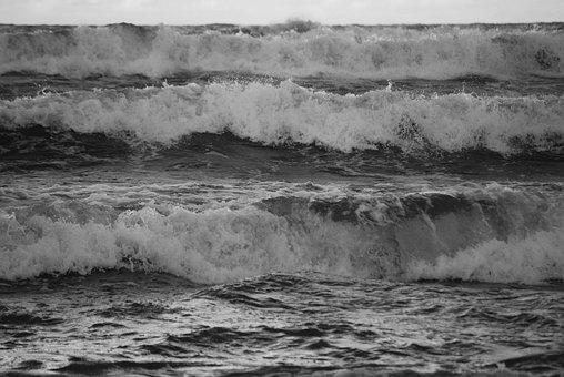 Poland, Balt, Sea, Beach, Surf, Coast, Waves