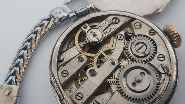 Mechanical, Watch, Old, Retro, Jewel, Precision