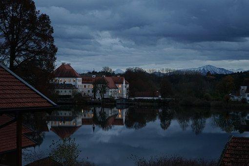 Monastery, Seeon, Monastery Seeon, Lake, Building