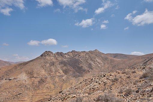 Karg, Sky, Hill, Landscape, Stones, Kahl, Tenerife