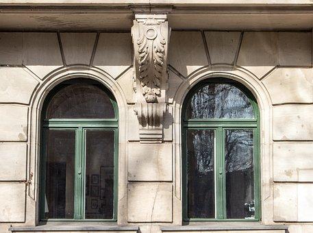 Stucco Façade, Window Sculpture, Architecture, Fürth