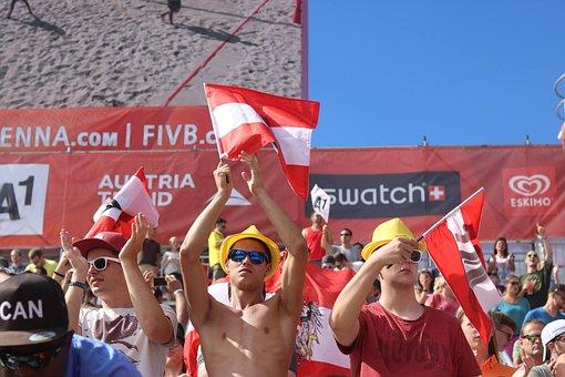 Volleyball Fans, Volleyball, Beach Volleyball, Summer