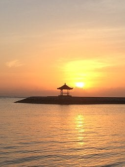 Sunrise, Sunset, Bali, Sanur, Sea, Morning, Vista, Sun