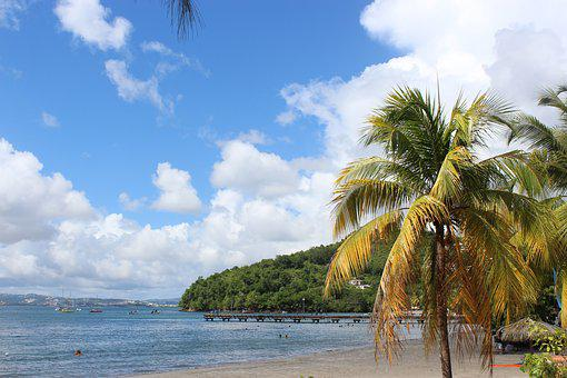 Beach, Maritinique, Fort De France, The Caribbean, Sun