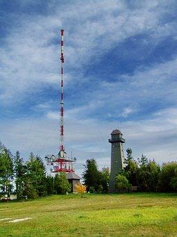 Tv Tower, Lookout Tower, Jauerling Mountain, Austria