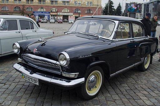 Machine, Volga, Black, Rarity, Car, The Ussr, Old Cars