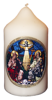Candle, Wax Candle, Wachsbild, Religious, Trinity