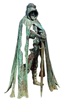 King, Artus, Sculpture, Bronze, Excalibur, Artus Say