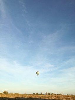 Balloon, Air, Hot, Landscape, Ballon, Background, Red
