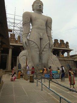 The Statue Of Gommaṭteśvara, Bahubali, Shravanabelagola