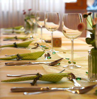 Festival, Table, Banquet Table, Board, Gedeckter Table