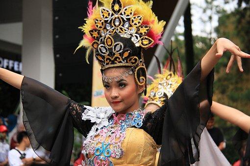 Dance, Traditional, Sunda, Culture, Girl, Dress