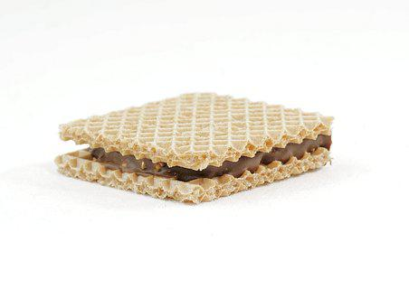 Waffle, Biscuit, Sweet, Chocolate, Dessert, Nibble