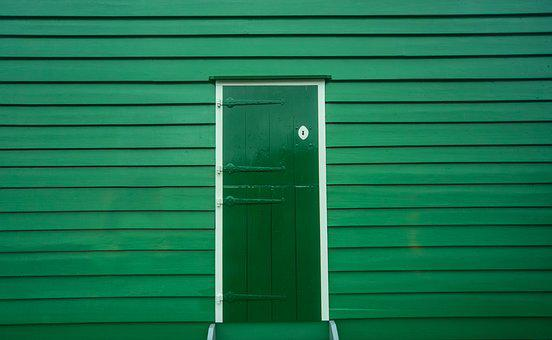 Green, Door, Wood, Entrance, House, Home, Front