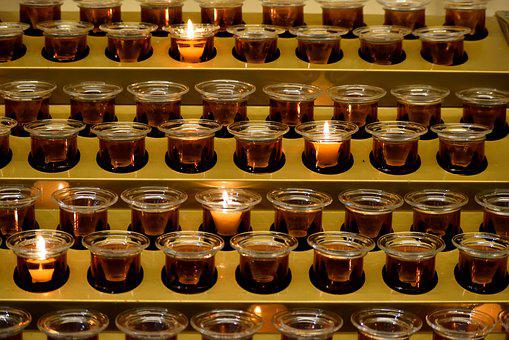 Votive Candles, Spiritual, Holy, Flame, Votive, Fire