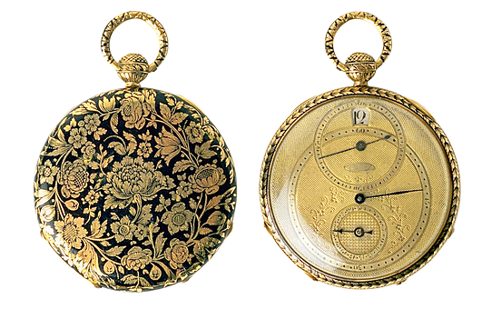 Clock, Pocket Watch, Gold, Valuable, Time, Pointer