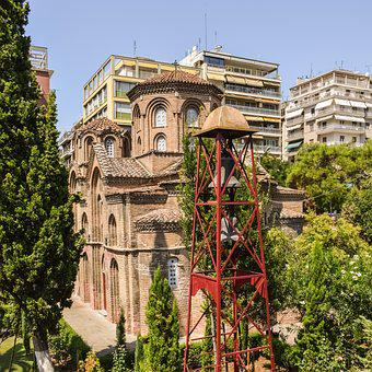 Greece, Thessaloniki, Church, Belfry, Orthodox