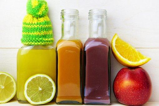 Juice, Lemon, Orange, Apple, Cap, Vitamins, Healthy