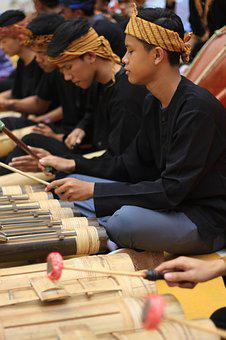 Angklung, Bamboo, Tr, Indonesia, Instrument