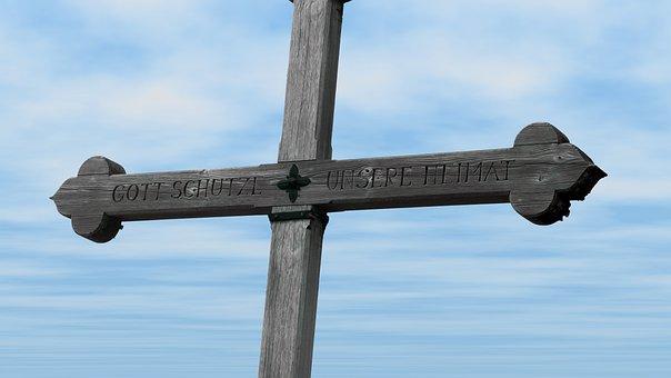 Summit Cross, Inscription, Jelenia Góra, Bavaria