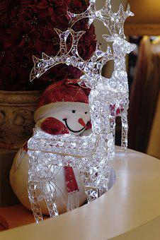 Xmas, Led, Transparency, Deer, Illuminated, Winter