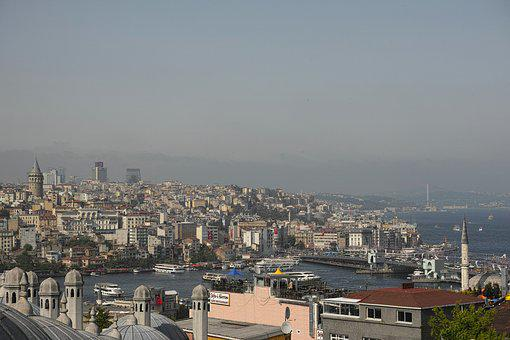 Istanbul, City, Landscape, Townscape, Marine, Turkey