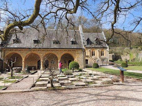 Monastery, Herb Garden, Middle Ages, Klosterhof